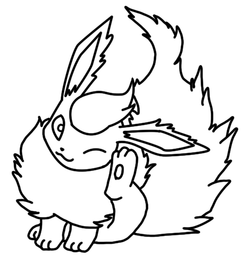 492x540 Flareon Coloring Page
