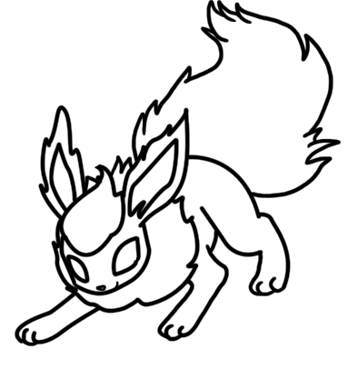 383x406 Flareon Coloring Page