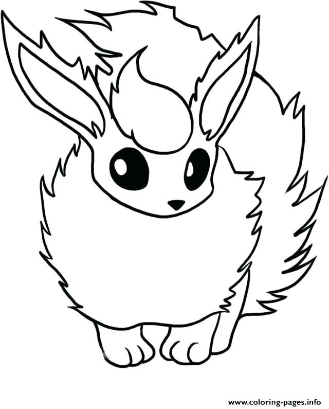 640x795 Interesting Flareon Coloring Pages Page