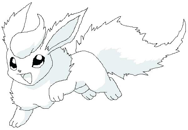600x415 Flareon Coloring Pages