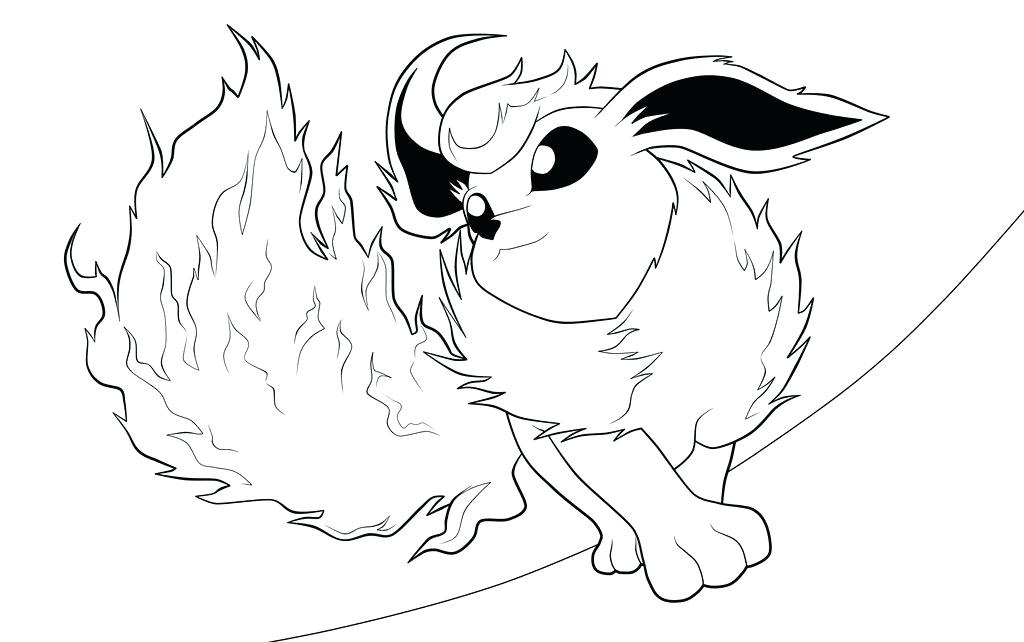 1024x642 Flareon Coloring Pages