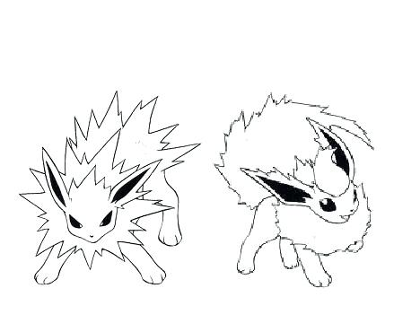 468x360 Flareon Eevee Pokemon Evolutions Coloring Pages Printable Flareon