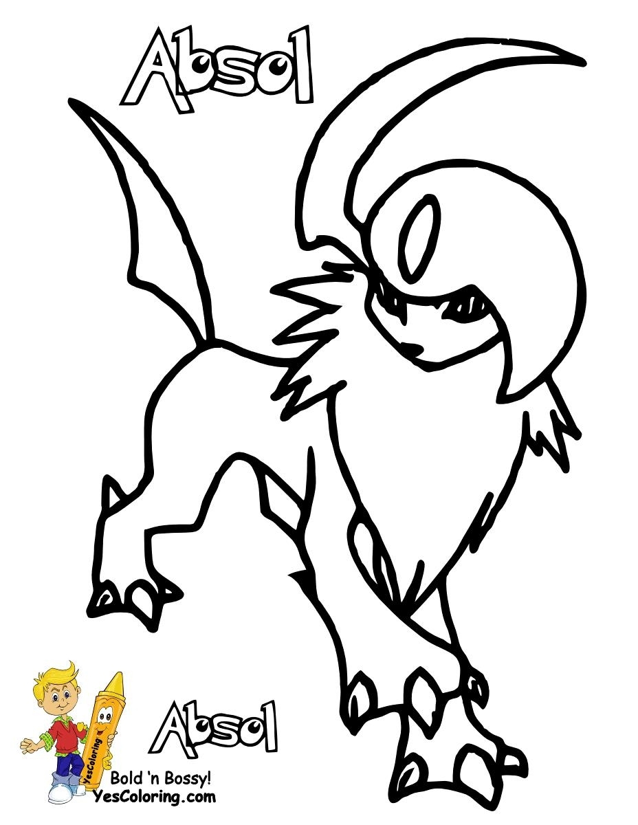 928x1200 New Coloring Pages Absol Free Coloring Pages Download
