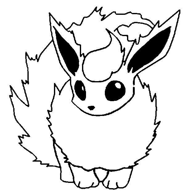 600x629 Pokemon Flareon Coloring Pages Mamas Pokemon