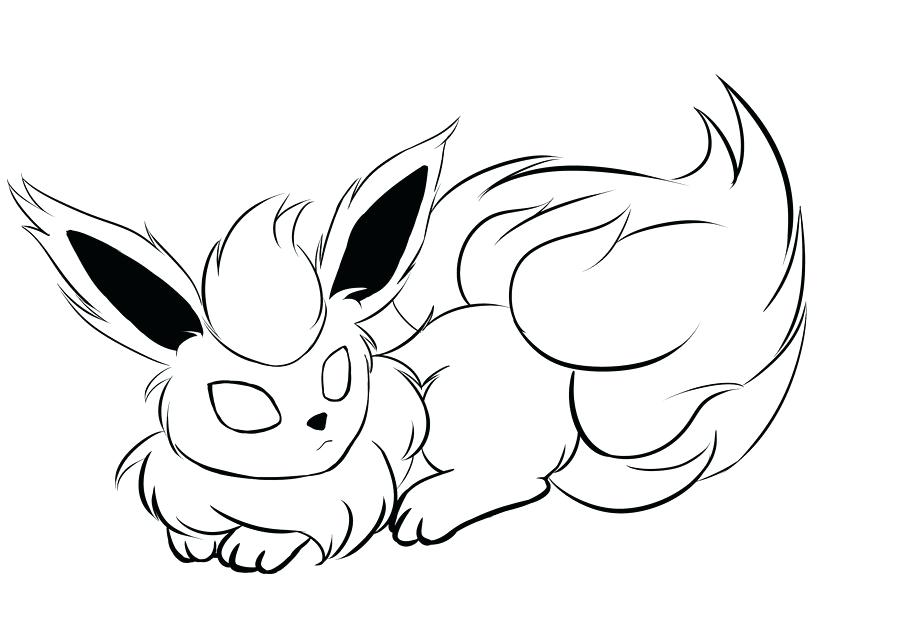 900x636 Vaporeon Coloring Pages Flareon Eevee Evolutions Coloring Pages