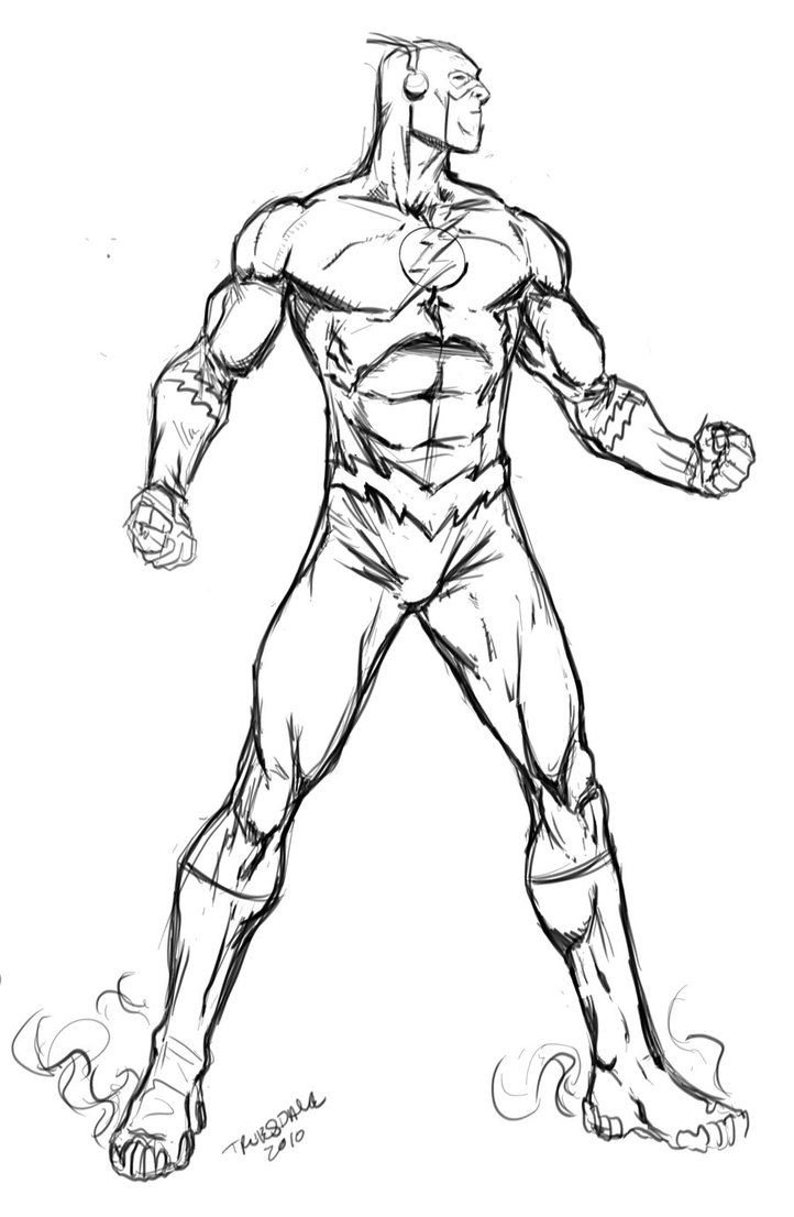 722x1106 Flash Superhero Free Coloring Page Kids, Movies, Superheros