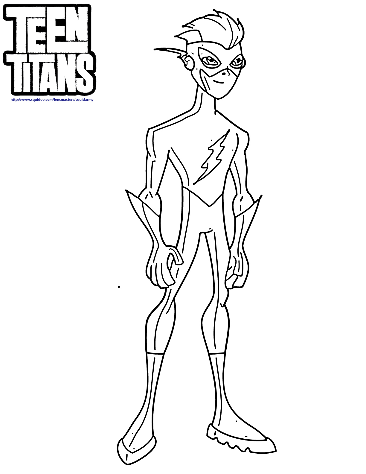 1224x1584 Flash Coloring Pages Teen Titans Kid Kids Dc Super