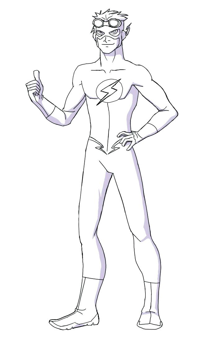 Flash Coloring Pages For Kids At Getdrawings Com Free For Personal