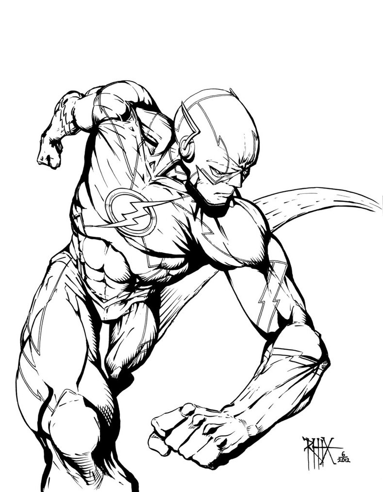 789x1013 The Flash Coloring Pages