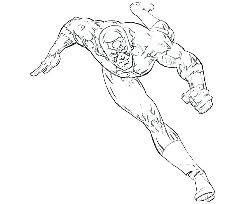 800x667 The Flash Coloring Pages Flash Coloring Page The Flash Coloring