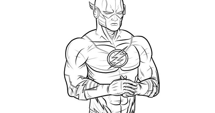752x395 The Flash Coloring Pages The Flash Coloring Pages Picture