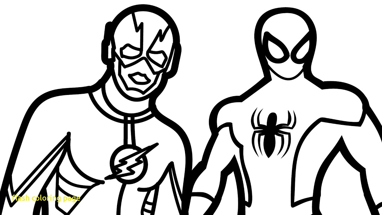 1280x720 Flash Coloring Page With Popular Flash Superhero Coloring Pages