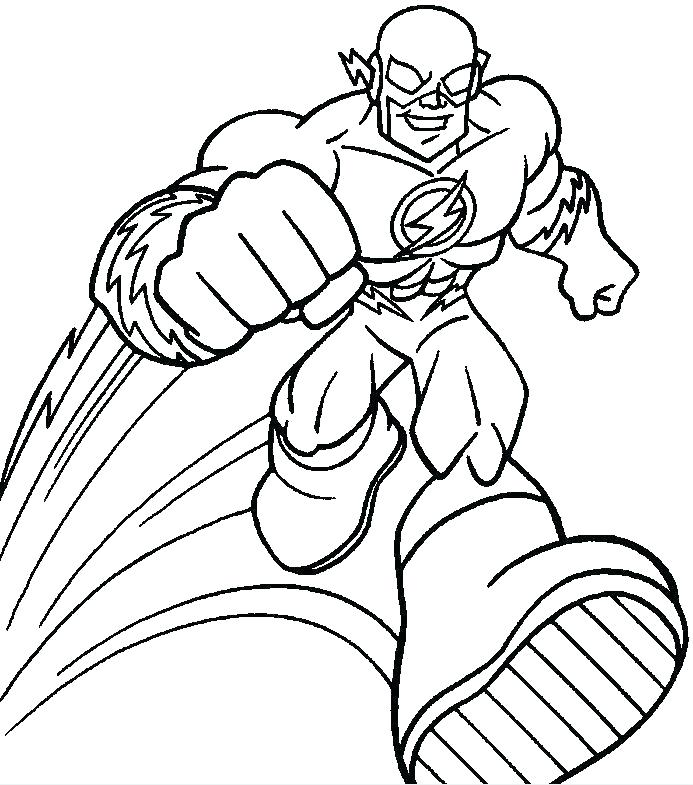 693x785 Flash Coloring Pages Flash Kid Coloring Pages Together With Free