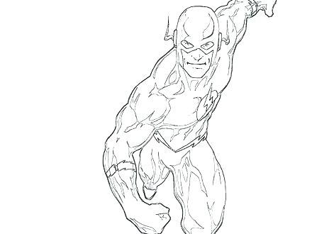 440x330 Flash Coloring Page Flash Coloring Pages The Flash Coloring Pages