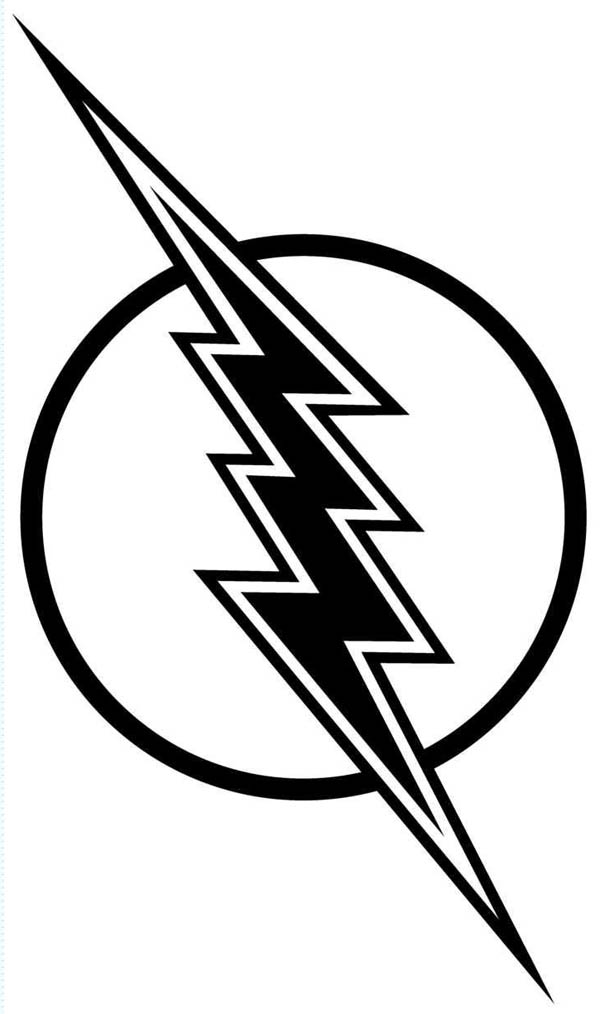 600x1014 Flash Gordon Lighting Bolt Coloring Page Color Luna