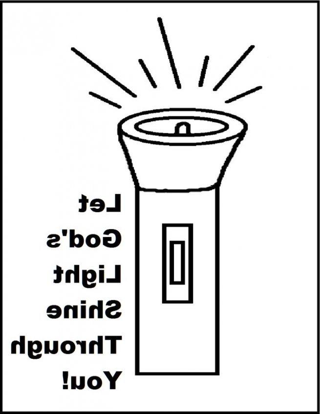 655x847 Flashlight Coloring Page Let Gods Light Shine Through You