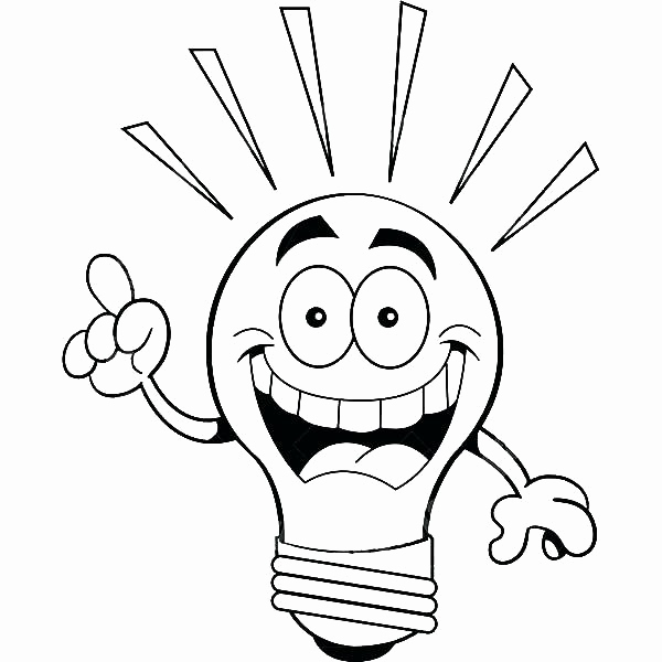 600x600 Light Bulb Coloring Page Pics Best Christmas Lights Drawing