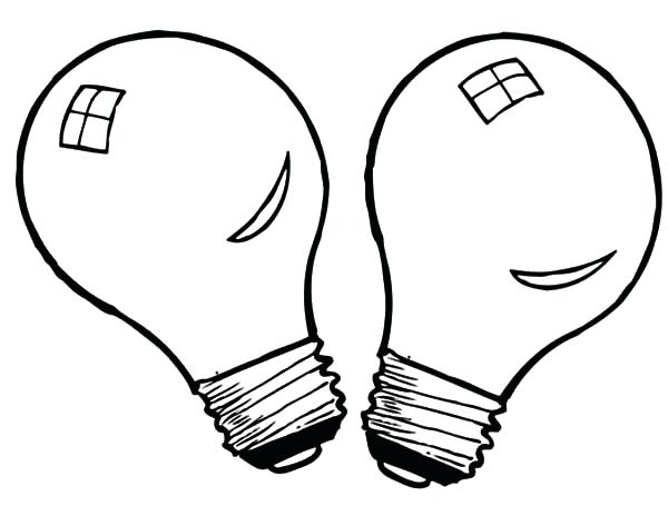 600x455 Light Coloring Page Twin Light Bulb Coloring Pages Garrett Morgan