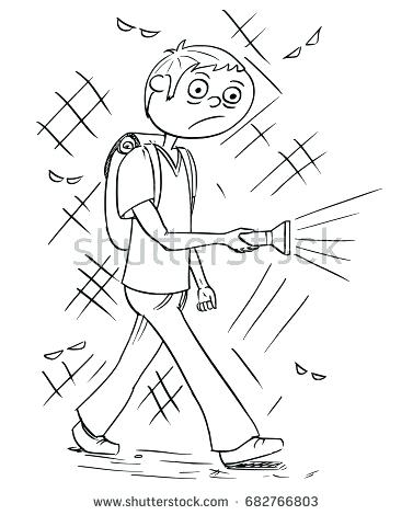 377x470 Flashlight Coloring Pages