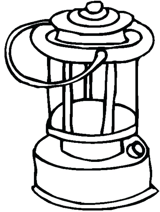 640x846 Colouring Flashlight As Well As Lantern Coloring Page