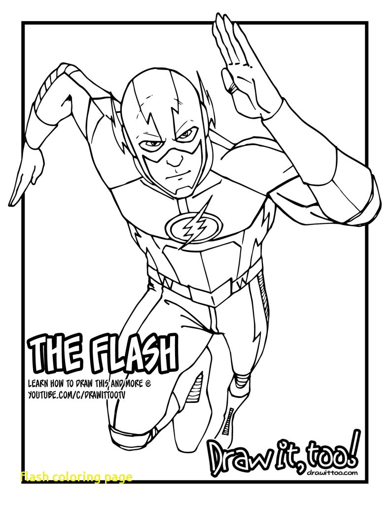 791x1024 Flash Coloring Page With Pages Printable Image