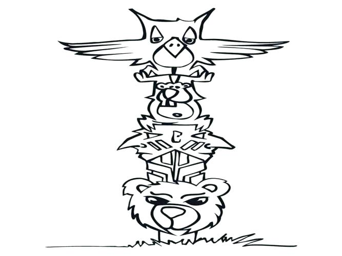 667x500 Flat Stanley Coloring Page Flat Coloring Page Size Printable Totem