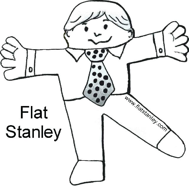 642x635 Flat Stanley Color Pages Printable Coloring Flat Coloring Sheet