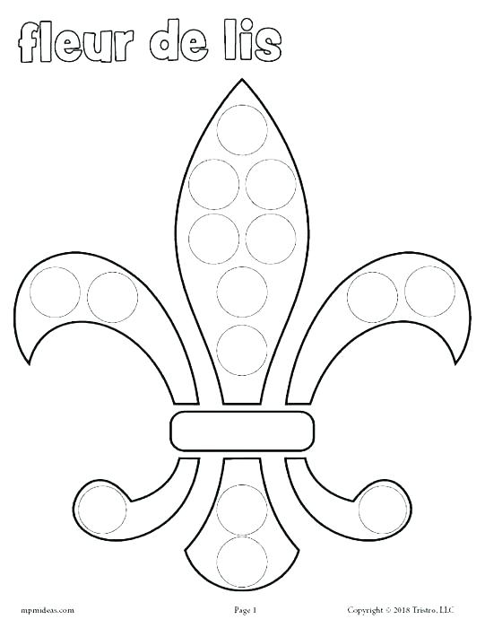 photograph about Fleur De Lis Printable identify Fleur De Lis Coloring Webpage at  Free of charge for
