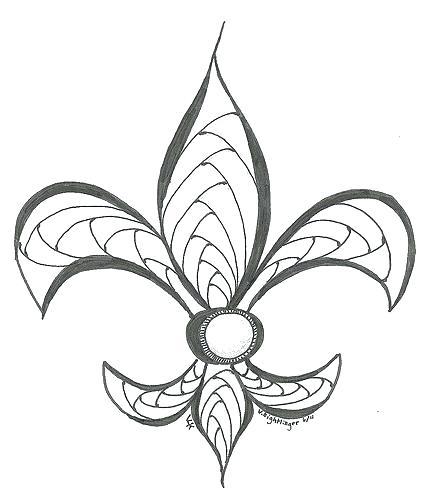 photograph regarding Fleur De Lis Stencil Printable identified as Fleur De Lis Coloring Webpage at  Cost-free for