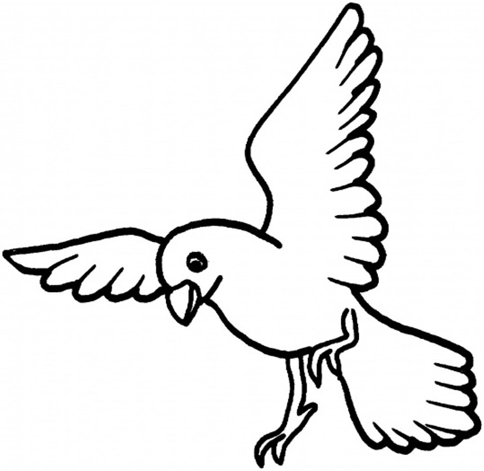 970x945 Coloring Pages Birds Flying Fresh Of Bird