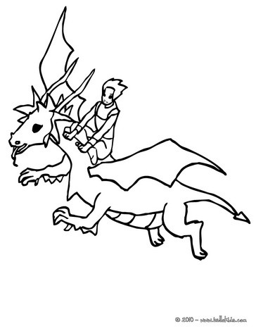 364x470 Dragon Flight Coloring Pages