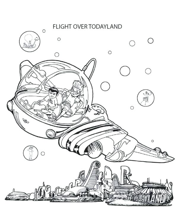 600x722 Meet Robinsons Coloring Pages And Flight Over In Meet