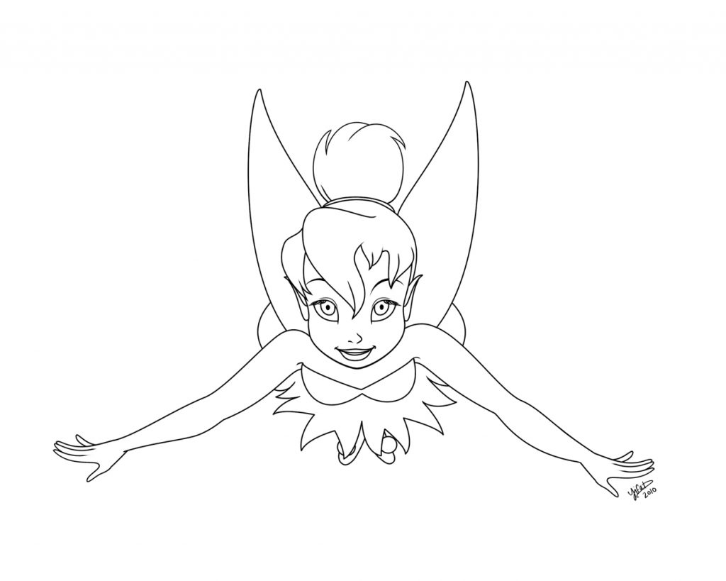 1024x819 Tinkerbell Flight Coloring Pages