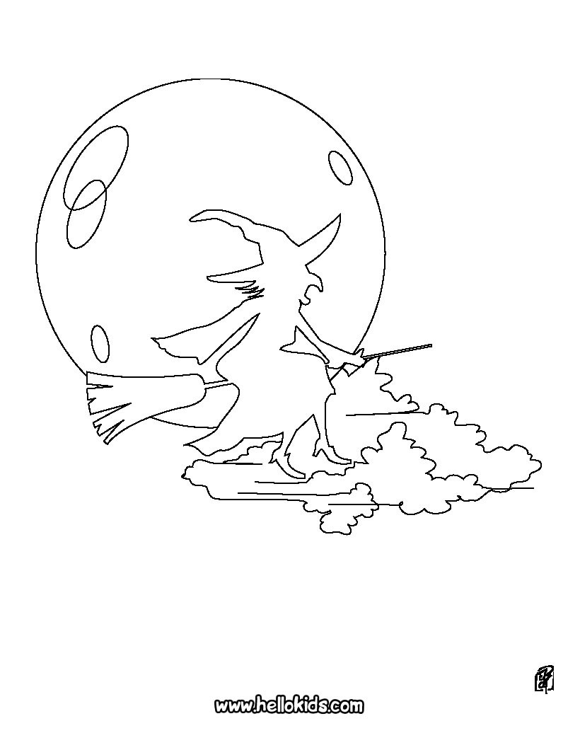 820x1060 Witch Coloring Pages