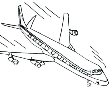 383x343 Airplane Coloring Sheet Airplane Coloring Pages Printable Flight