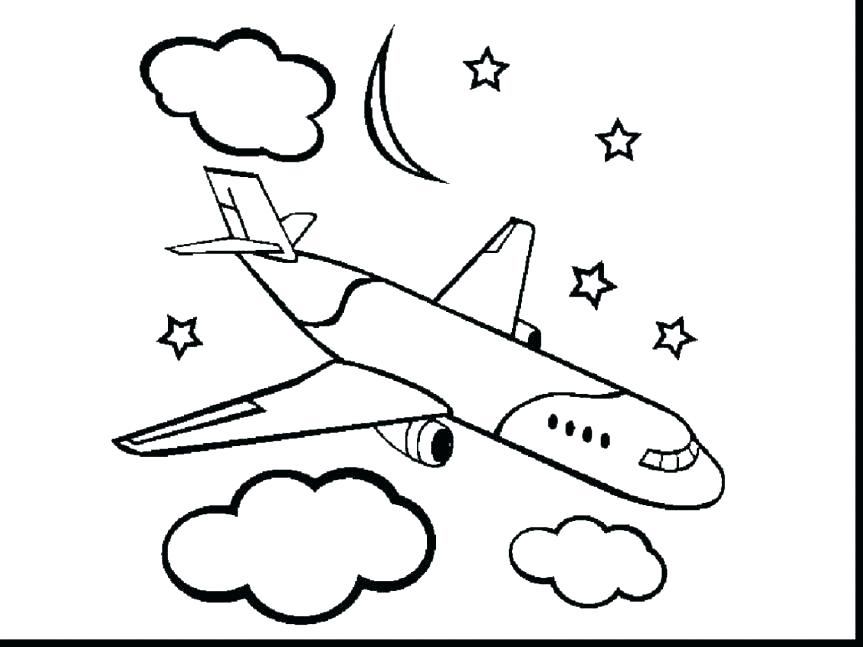 863x647 Airplane Coloring Sheets Coloring Plane Airplane Coloring Pages