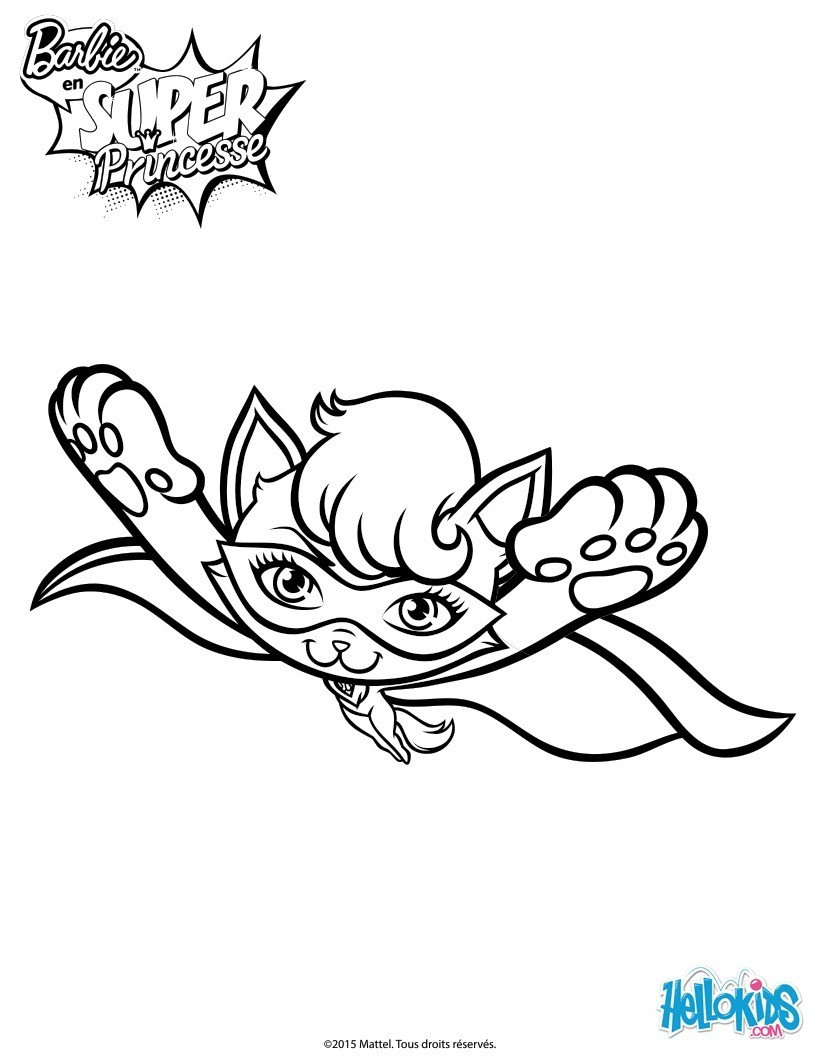 820x1060 Barbie Cat Coloring Pages New Super In Flight