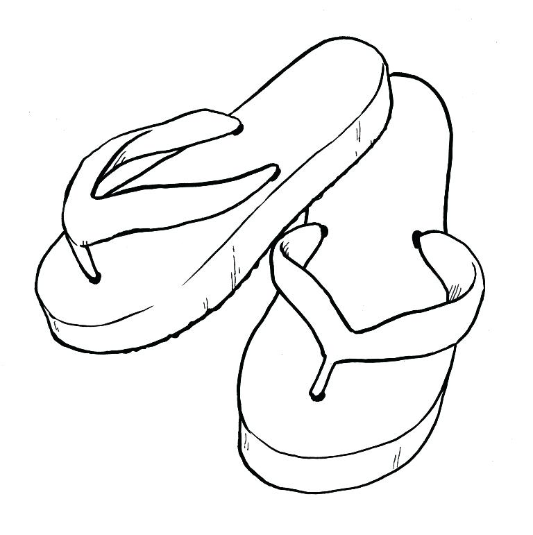 Flip Flop Coloring Pages At Getdrawings Com Free For Personal Use