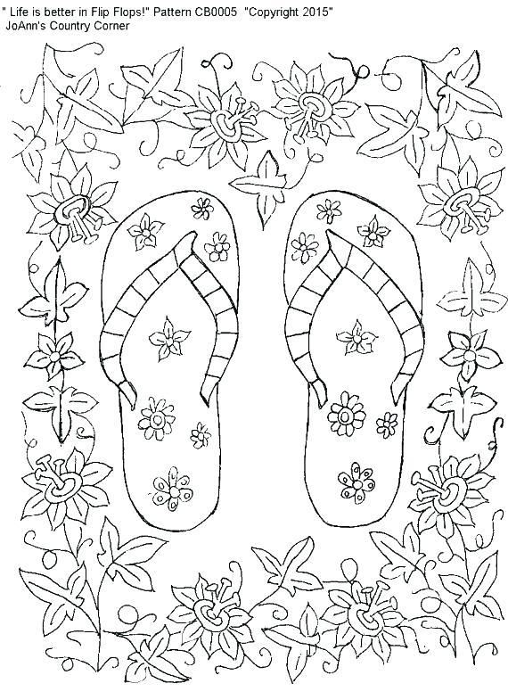570x785 Flip Flop Coloring Page S Flip Flop Coloring Pages
