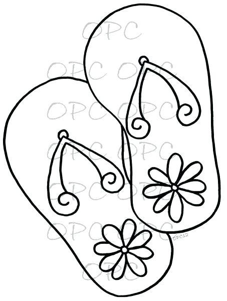453x600 Flip Flop Coloring Page Simple Flip Flop Coloring Pages Google