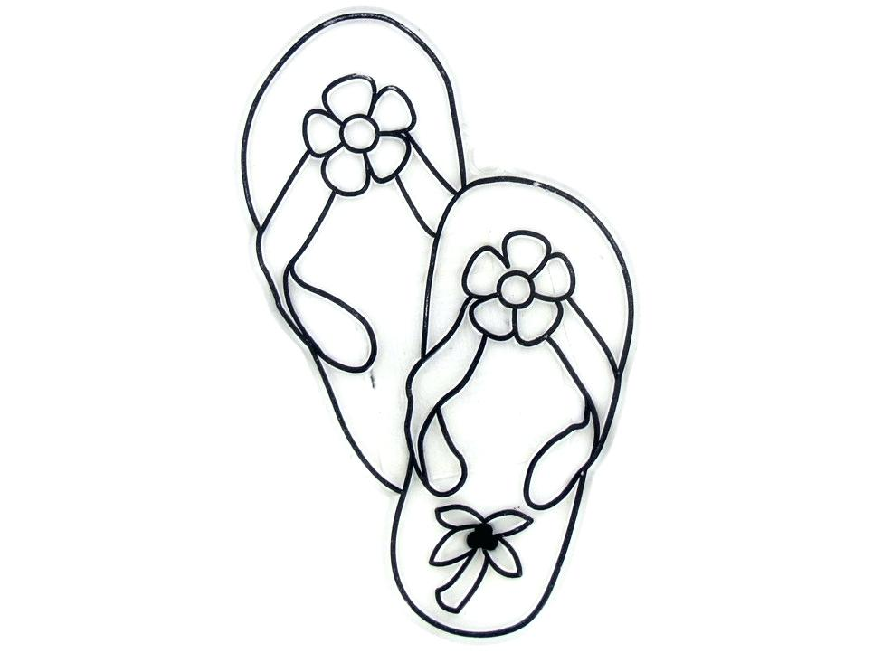 965x722 Flip Flops Coloring Pages Flip Flop Coloring Page Tearing Summer