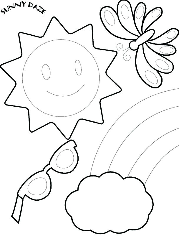 608x801 Free Summer Coloring Sheets Flip Flop Coloring Page Free Summer