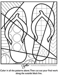 236x311 Flip Flop Coloring Page Digi Stamps Flipping