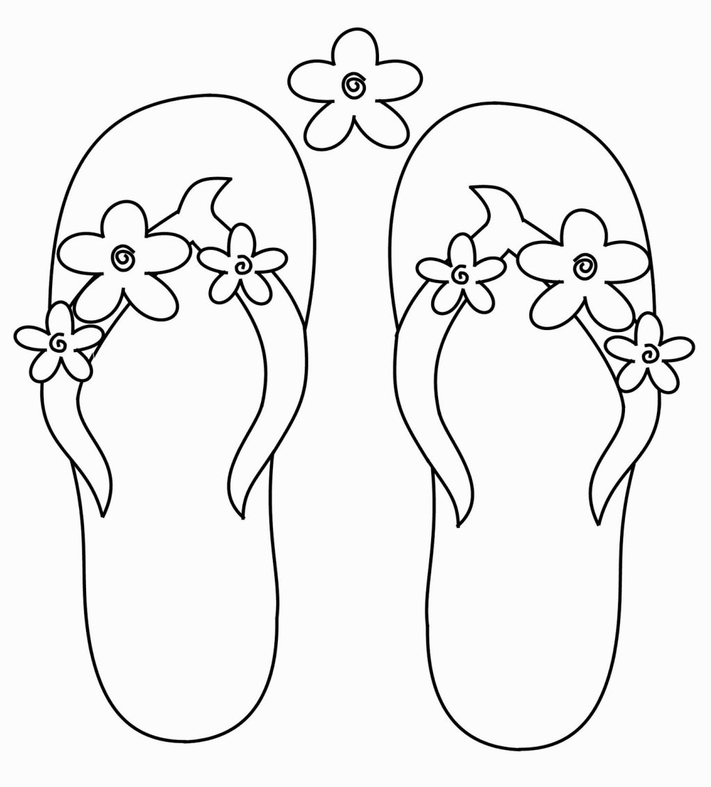 1024x1133 Flip Flop Coloring Page Coloring Pages Flipping