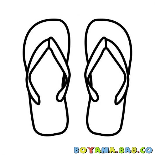 Flip Flop Coloring Pages Free Printable