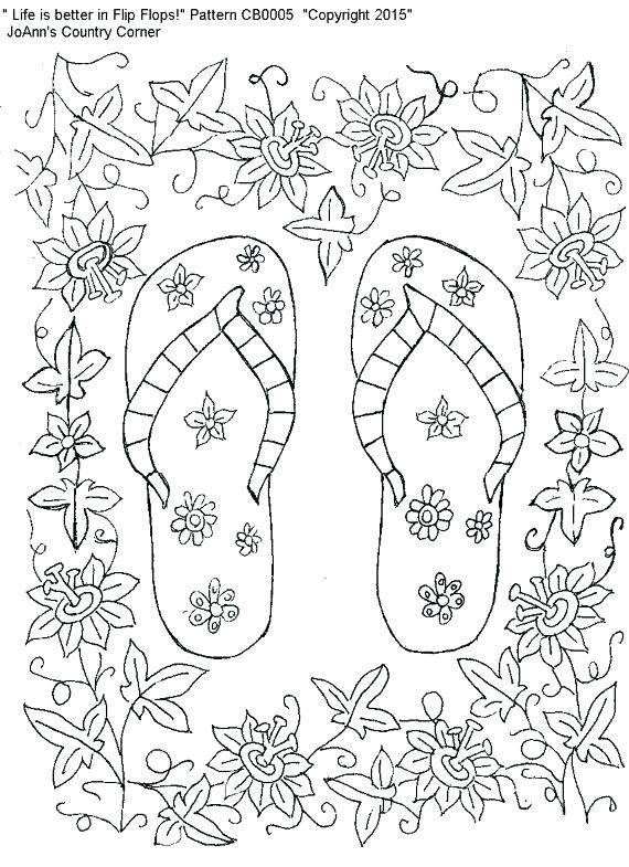81eee035b514fb 570x785 Flip Flop Coloring Page Flip Flops Coloring Pages Adult Designs