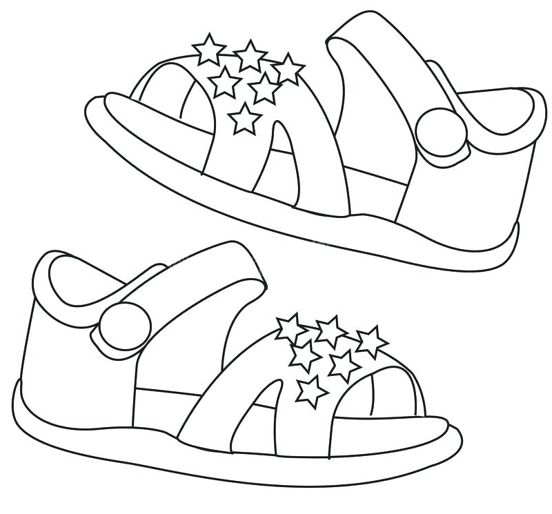 800x745 Flip Flop Coloring Page Flip Flops Coloring Pages Page For S