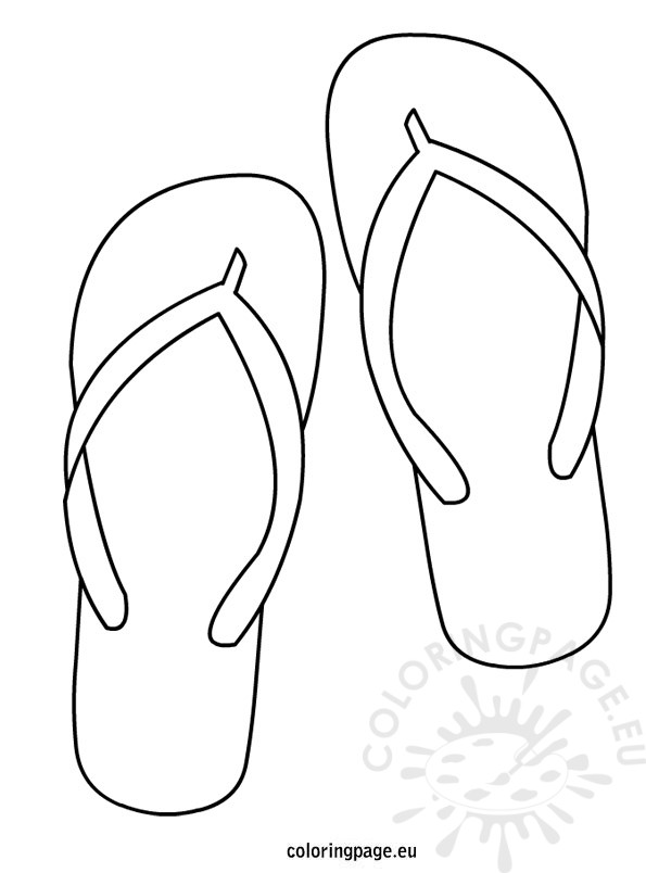 595x804 Flip Flop Coloring Pages