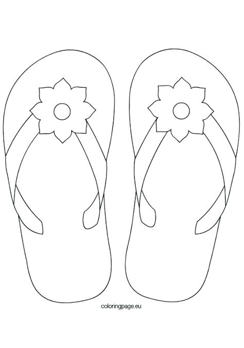 474x677 Free Printable Flip Flop Coloring Pages Flip Flop Coloring Page