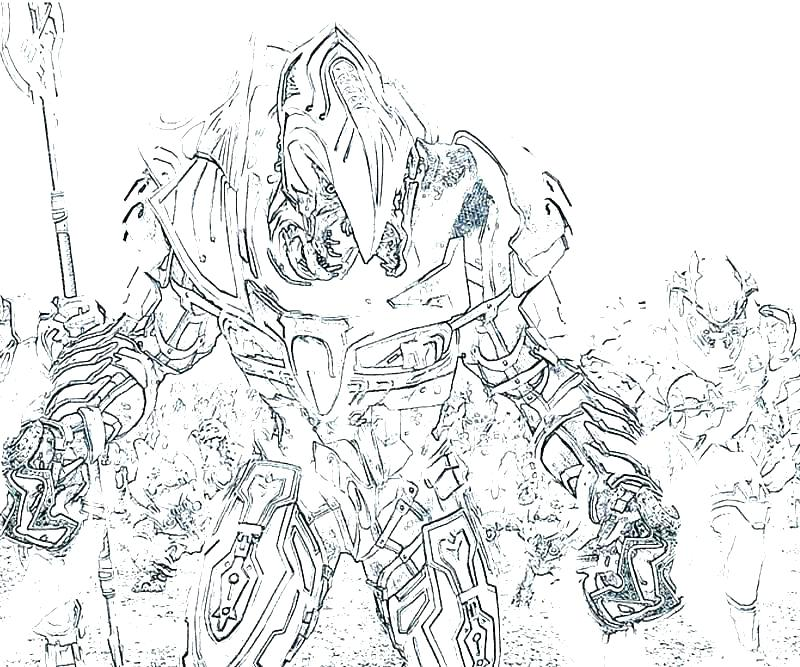 800x667 Flood Coloring Pages Halo Master Chief Coloring Pages Halo Master